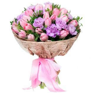 Букеты с тюльпанами