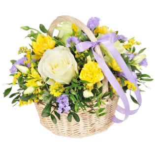 Корзина с цветами «Эйфория»